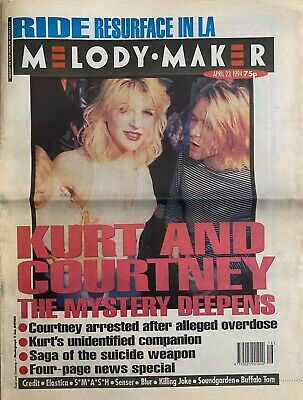 Nirvana / Courtney Love - Melody Maker - 23 April 1994 - Photos And Article • 8£