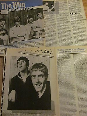 The Who, Four Page Vintage Clipping • 1.07£