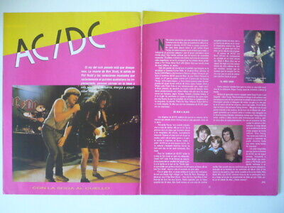 AC/DC - Lot Of 12 Rare Magazine Cuttings Clippings • 8.90£