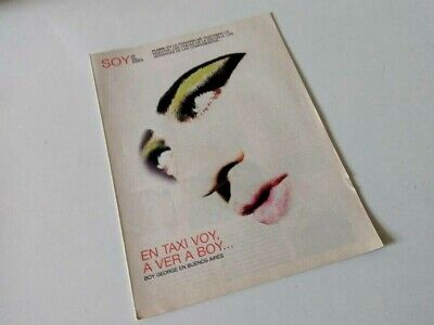 Boy George SOY Magazine Argentina September 2008 In EXC Condition Culture Club  • 5.50£