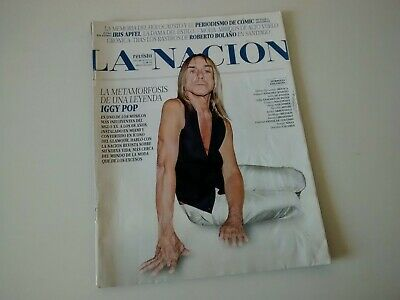 Iggy Pop - LNR Argentina 2015 Magazine Cover + Feature Complete EXC Condition • 21.90£