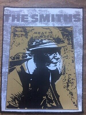 THE SMITHS : MEAT IS MURDER. Large Back Patch 38cm X 32cm Vintage Unused Rare • 39.99£