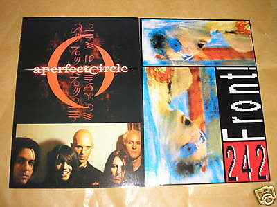 2 X Music Postcards - Perfect Circle & Front 242 • 0.99£