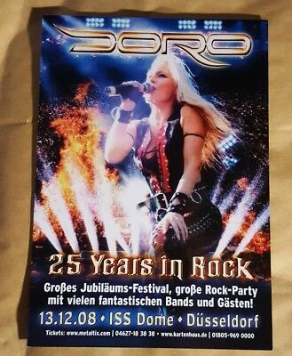 Music Flyer - Doro -25 Years In Rock - Germany 2008  • 0.99£
