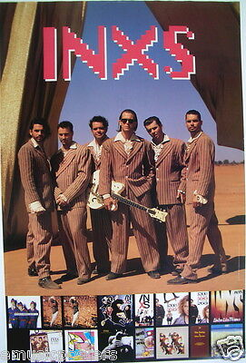 INXS  WELCOME TO WHEREVER YOU ARE  2-SIDED U.S. PROMO POSTER: Group Shots & Lp's • 16.04£