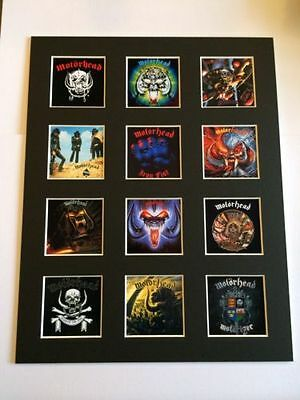 Motorhead 14  By 11  Lp Discography Covers Picture Mounted Ready To Frame • 15.99£