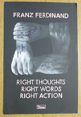 Franz Ferdinand Right Thoughts 2013 Signed X4 Coa Autograph Original Poster • 119.72£
