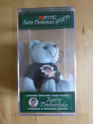 JUSTIN TIMBERLAKE N'SYNC Limited Edition RARE BEAR Numbered SEALED In BOX NEW • 39.99£