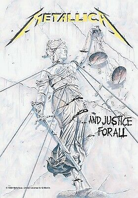 Metallica And Justice For All Large Fabric Poster / Flag   1100mm X 750mm (hr)   • 9.99£