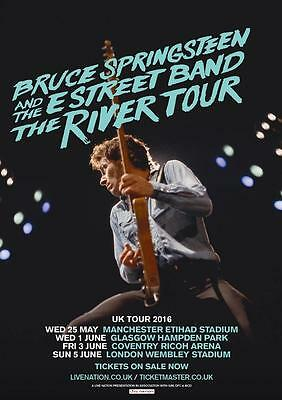 Bruce Springsteen - River Tour Poster Wall Poster Repro  (sz: A4 A3 A2 A1 A0) • 18.99£