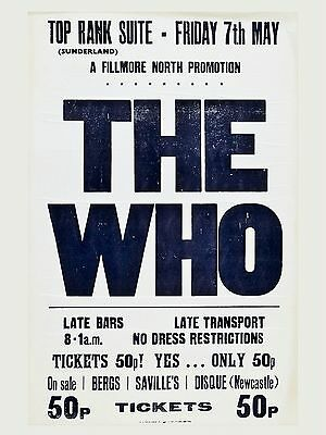 The Who Sunderland 16  X 12  Photo Repro Concert Poster • 5.50£