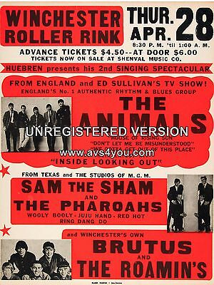 The Animals Winchester 16  X 12  Photo Repro Concert Poster • 5.50£