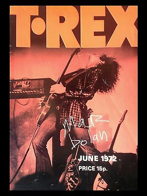 T Rex Newcastle 1972 16  X 12  Photo Repro Concert Poster • 5.50£