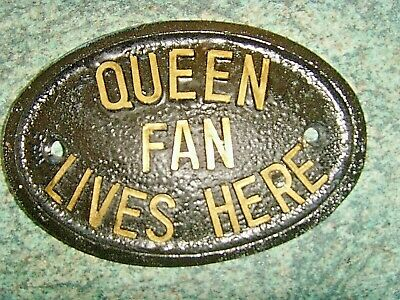 Queen Fan Lives Here House Plaque Sign Bohemian Rhapsody Freddie Mercury • 3.99£
