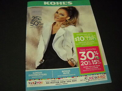 JENNIFER LOPEZ On Cover Of KOHL'S 2015 Monthly Catalog - Mint Condition • 7.37£