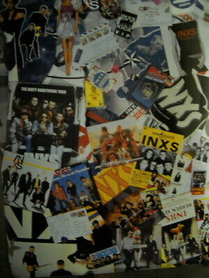 INXS Rare Two-sided COLLAGE And STAR Style Large PROMO POSTER From 1997 • 15.84£