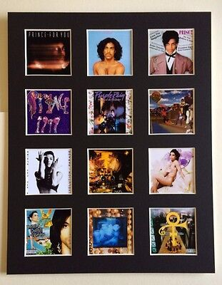 Prince 14  By 11  Lp Discography Covers Picture Mounted Ready To Frame • 15.99£
