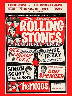 Rolling Stones Lewisham 16  X 12  Photo Repro Concert Poster • 5.50£