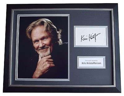 Kris Kristofferson Signed FRAMED Photo Autograph 16x12 Display Music AFTAL & COA • 159.99£