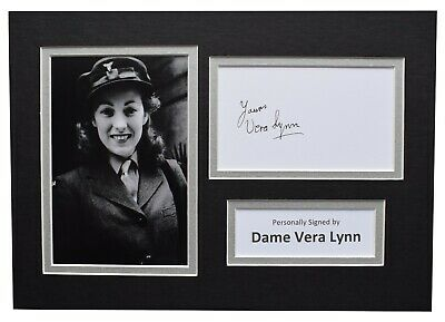 Vera Lynn Signed Autograph A4 Photo Display Music Memorabilia AFTAL COA  • 29.99£
