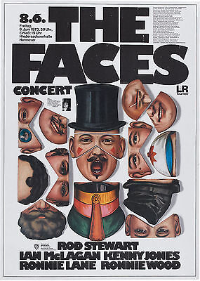 The Faces Germany 16  X 12  Photo Repro Concert Poster • 5.50£