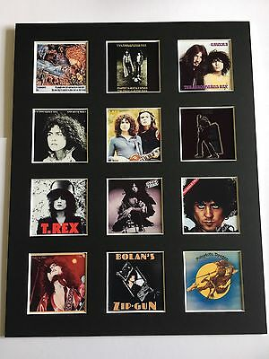 T-rex Marc Bolan Discography 14  By 11  Lp Covers Picture Mounted Ready To Frame • 15.99£