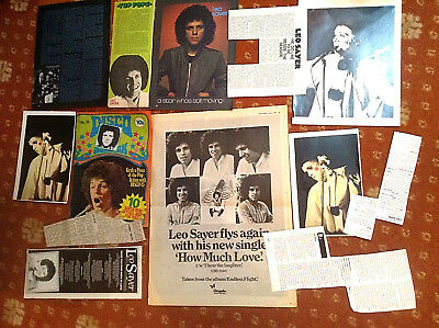 Leo Sayer Cuttings Clippings Pages Pictures • 3£