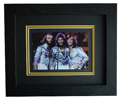 Barry Gibb Signed 10x8 Framed Autograph Photo Display Bee Gees Music COA • 149.99£