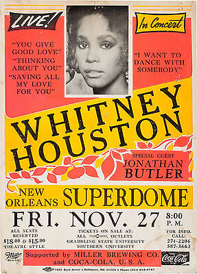 Whitney Houston New Orleans 16  X 12  Photo Repro Concert Poster • 5.50£