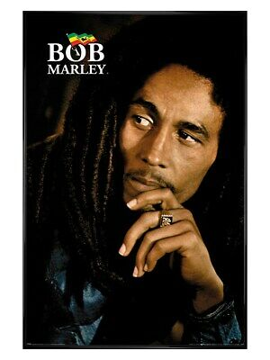 Bob Marley Poster Gloss Black Framed Legend 61x91.5cm • 29.49£