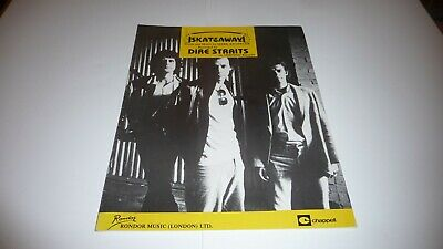 Dire Straits Skateaway Original Uk 1980 Sheet Music  • 14.99£