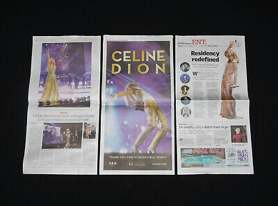 Celine Dion Vegas Review Journal 2019 Commemorative Newspapers End Of An Era  • 5.98£