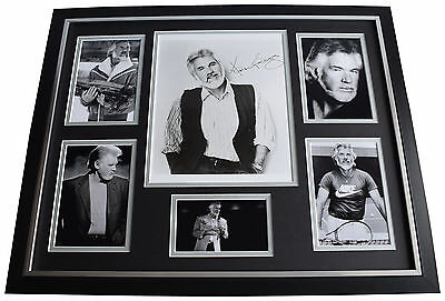 Kenny Rogers SIGNED Framed Photo Autograph Huge Display Country Music AFTAL COA • 199.99£
