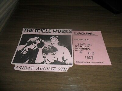The Icicle Works 1985 Ticket Stub And Cutting  • 2.99£