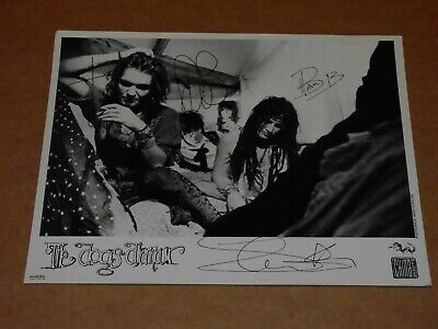 Dogs D'Amour 10 X 8 1989 China Records Publicity Photo (Hand Signed) • 22£
