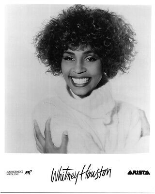Whitney Houston Striking Arista Recors Galmour Portrait Original Promo Photo • 19.30£