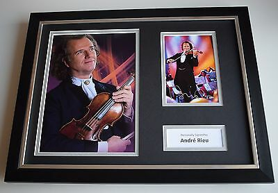 Andre Rieu SIGNED FRAMED Photo Autograph 16x12 Display Violin Music AFTAL COA • 179.99£