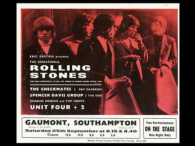 Rolling Stones Southampton 16  X 12  Photo Repro Concert Poster • 5.50£
