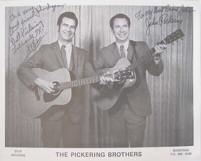 The Picks Buddy Holly Backing Group Pickering Brothers Inscribed Signed In 1982  • 24£