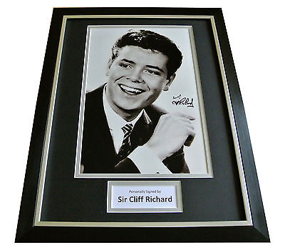 Cliff Richard Hand Signed & Framed Autograph Photo Mount Display Music Gift Coa • 149.99£