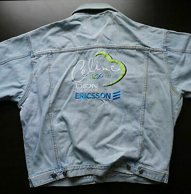 Vintage 90s CELiNE DiON TOUR JACKET (xl/52 /Chest) Denim/jean Ericsson • 39.90£