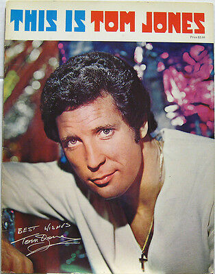 TOM JONES This Is ORG US Tour Concert Program 1970 • 41.89£