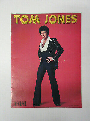 TOM JONES Say You'll Stay Until Tomorrow 1977 US Tour CONCERT PROGRAM + Ticket • 27.85£