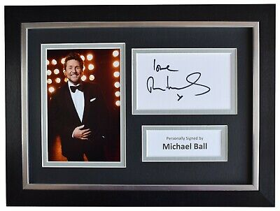 Michael Ball Signed A4 Framed Autograph Photo Display Music Radio 2 AFTAL COA • 59.99£
