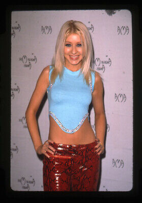 Christina Aguilera Sexy Bare Midriff Outfit AMA 2000 Original 35mm Transparency • 19.84£