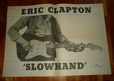 Eric Clapton Slowhand 1977 Double  Page Press Advert Poster Size  37/50cm • 9.99£