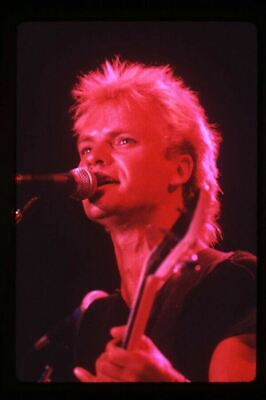 Sting The Police 1983 Iconic Concert Original Photographer Stamped Transparency • 17.87£