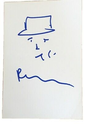 Peter Doherty Hand Signed Card With Drawing The Libertines With Proof • 26.99£