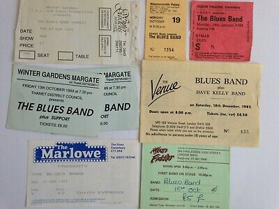8 X THE BLUES BAND Concert Tickets Various Dates/Venues,The Venue,Mean Fiddler. • 8.99£
