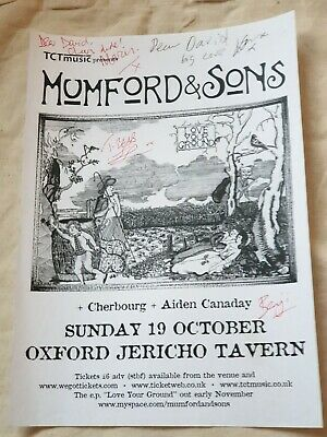 Mumford & Sons Tour Flyer - Hand Signed By Marcus Mumford & Laura Marling +2  • 39.99£